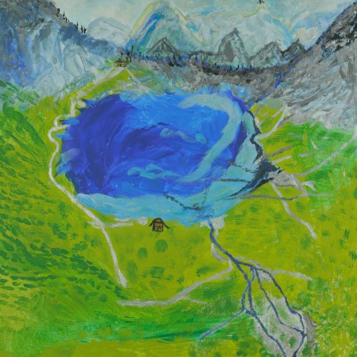 26_Bergsee, Hans Schiestl, Acryl 50x50