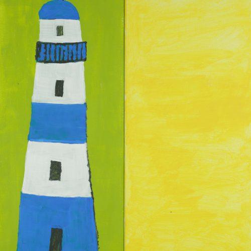 35_Leuchtturm, Brigitte Schmidt, Acryl, 2x 50x20