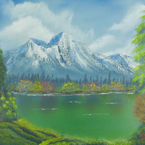 40_Herbst Im Gebirge,Lydia Riemer, Ölbild Nass In Nass, 40x50