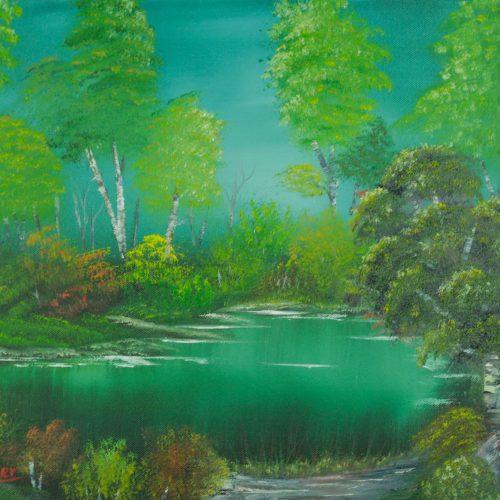 41_Marsh Land, Lydia Riemer, Ölbild Nass In Nass, 40x50